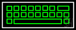 Green White Keyboard Series Neon Sign