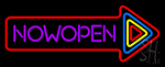 Now Open With Multicolor Arrow Neon Sign
