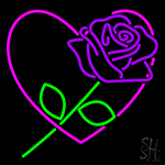 Purple Rose LED Neon Sign