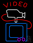 Video With Camera Tv LED Neon Sign