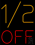 1by2 Off Neon Sign