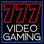 777 Video Gaming Neon Sign