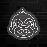Angry Monkey Contoured Clear Backing Neon Sign