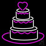 Anniversary Cake Neon Sign