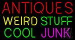 Antiques Weird Stuff Cool Junk Neon Sign