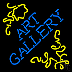Art Gallery With Art Neon Sign