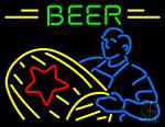 Beer Man Ply Drum Neon Sign