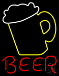 Beer With Mug Neon Sign