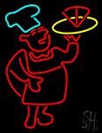 Chef With Pizza Neon Sign