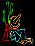 Cowboy With Cactus Neon Sign