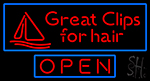 Great Clips For Hair Neon Sign