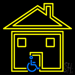 Handicapped Housing Neon Sign