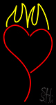 Heart With Flame Neon Sign