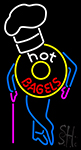 Hot Bagels With Chef Neon Sign