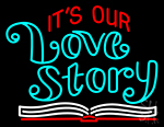 Its Love Story Neon Sign