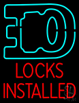 Locks Installed With Logo Neon Sign