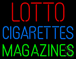 Lotto Cigarettes Magazines Neon Sign