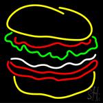 Multi Color Burger Neon Sign