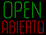 Open Abierto Neon Sign
