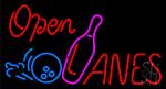 Open Lanes Neon Sign