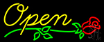 Open Rose Bud Neon Sign