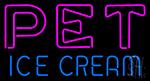 Pet Ice Cream Neon Sign