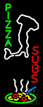 Pizza Subs Logo Neon Sign