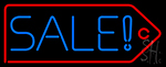 Sale With Red Border Neon Sign