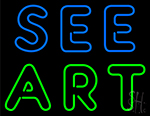 See Art Neon Sign