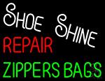 Shoe Shine Repair Zippers Bags Neon Sign