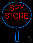 Spy Store With Icon Neon Sign