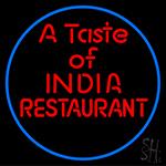 Taste Of India Restaurant Neon Sign