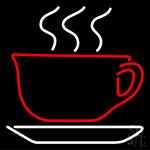 Tea Cup Logo Neon Sign
