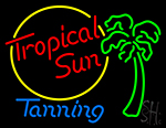 Tropical Sun Tanning Neon Sign