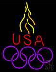 Usa Olympic Logo Neon Sign