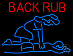 Back Rub With Logo Neon Sign