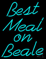 Best Meal On Beale Neon Sign