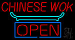 Chinese Wok Open Neon Sign