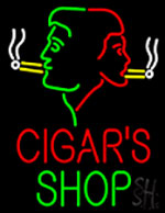 Cigars Shop With Logo Neon Sign