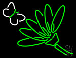 Flower With Butterfly Neon Sign