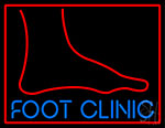 Foot Clinic With Foot Neon Sign