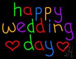 Happy Wedding Day Neon Sign