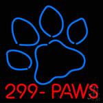 Paws With Logo Neon Sign