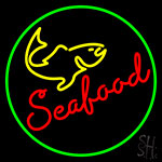Seafood With Fish Neon Sign