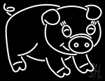 Angry Pig Neon Sign