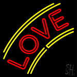 Arc Love With Border Neon Sign