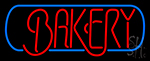 Bakery Blue Border Neon Sign