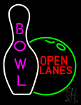 Bowl Open Lanes Neon Sign
