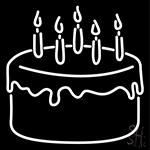Cake St Birthday Neon Sign