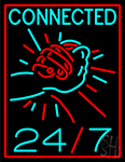 Connected 24by Neon Sign